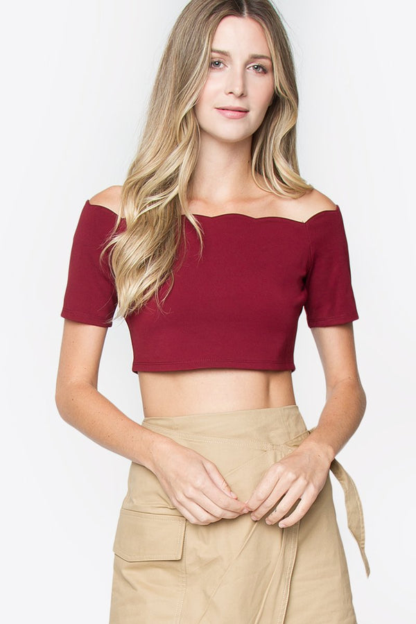Lucia Off The Shoulder Crop Top