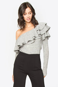 Dannibelle One Shoulder Knit Top