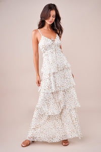 Letti Floral Tiered Maxi Dress
