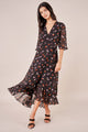 Fiore Floral Wrap Maxi Dress