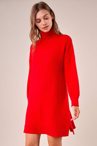 Hot Choc Oversized Turtleneck Sweater Dress
