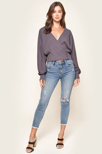 Modena Oversized Dolman Sleeve Wrap Sweater