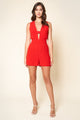 Wonderful Time Deep V Romper