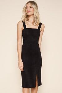 Selene Ribbed Knit Midi Dress