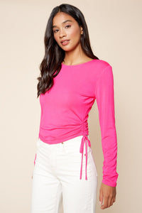 Embry Ruched Longsleeve Top