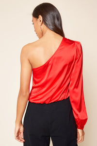 Avalon One Shoulder Satin Top