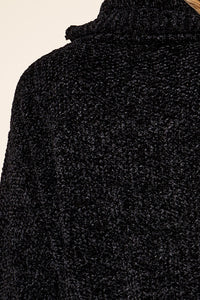 Raphaela Chenille Black Sweater
