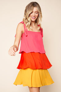 Minute Maid Tiered Ruffle Dress
