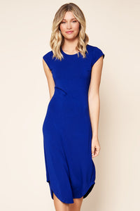 Seville Jersey Knit Asymmetric Midi Dress
