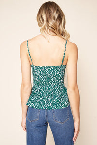 Auro Animal Peplum Cami Top