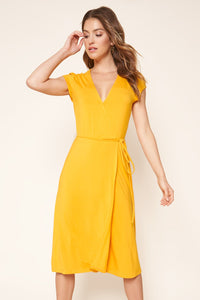Annecy Jersey Knit Midi Wrap Dress