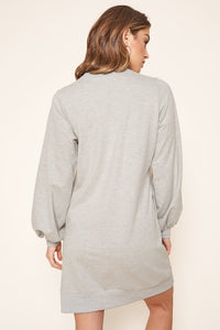 Deanna French Terry Knit Sweatshirt Mini Dress