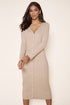 Provence Ribbed Knit Midi Cardigan Dress