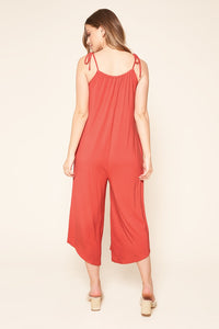 Florence Flowy Sleeveless Jersey Knit Jumpsuit