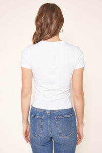 Perfect Slim Fit Cropped French Terry Knit T Shirt