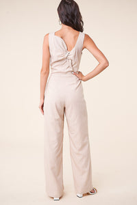 Aemelia Striped Tie-Back Jumpsuit