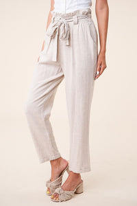 Daybreak Linen Paper Bag Pants