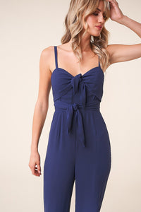 Passport to Paris Double Tie Front Jumpsuit