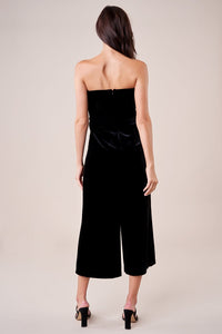 Love Game Strapless Velvet Jumpsuit