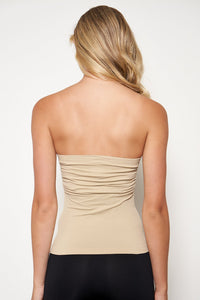 Cinched Strapless Seamless Top