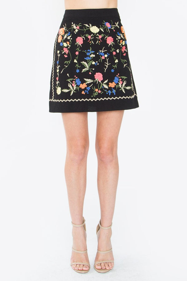 Alkali Embroidered Skirt