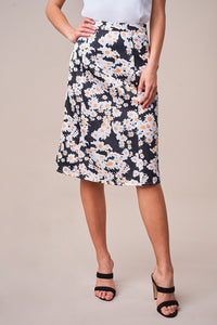 Delicate Sunflower Midi Skirt