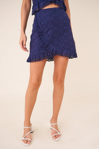 Cosmic Love Crochet Ruffle Skirt