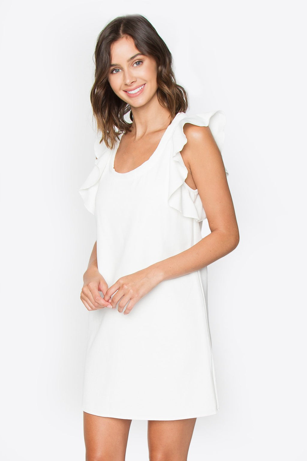 Bonnie Ruffle Sleeve Dress