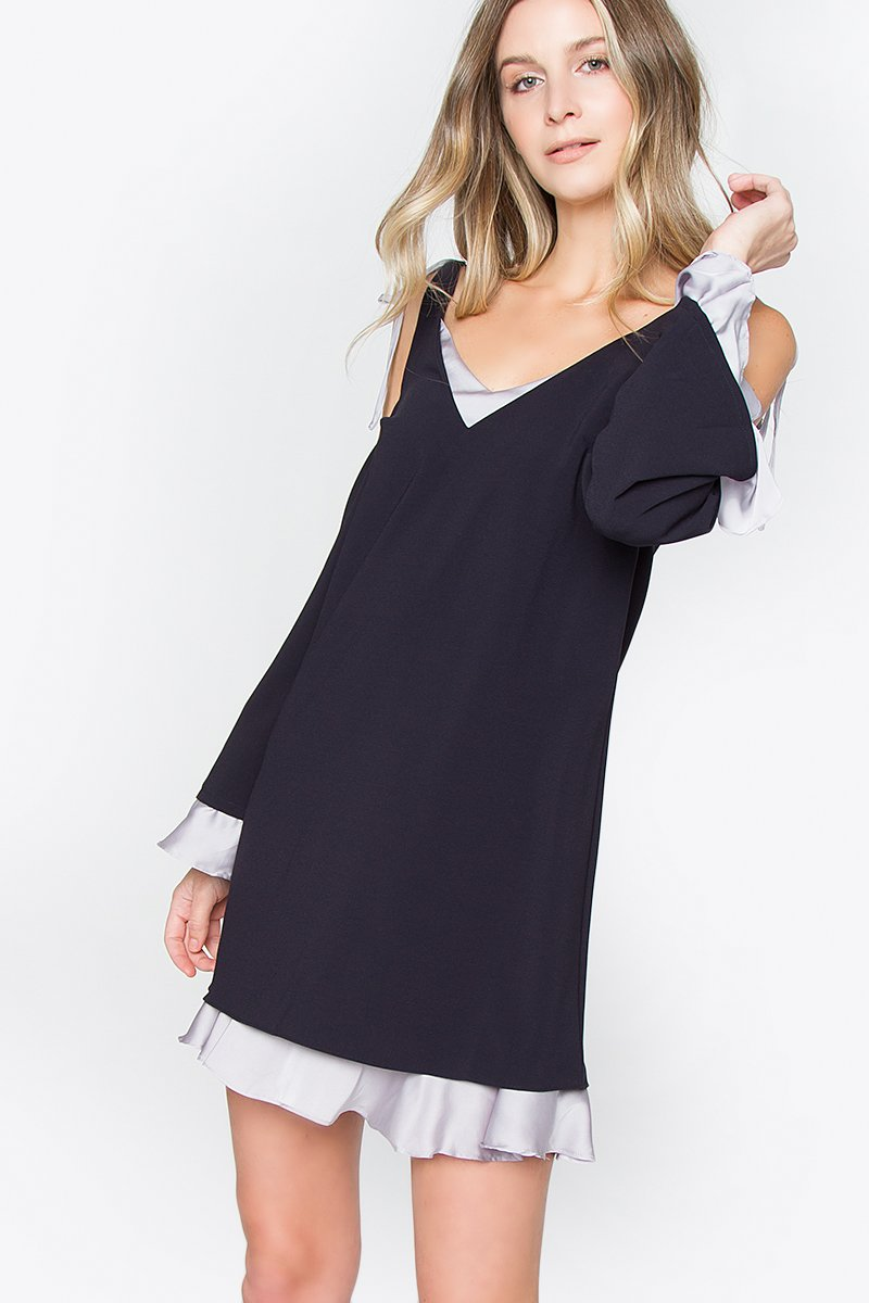 Sandra Cold Shoulder Dress
