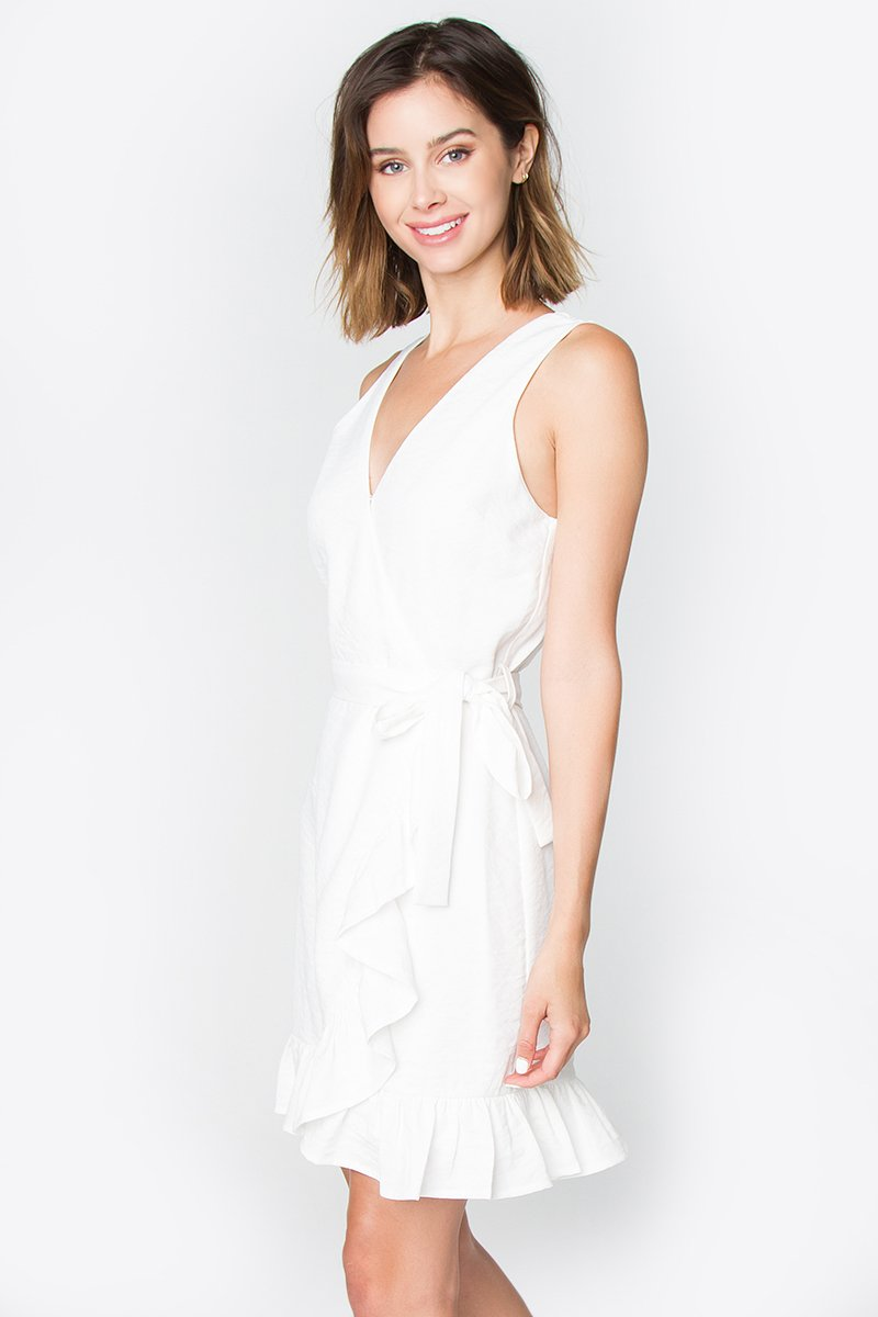 Bella Ruffled Wrap Dress
