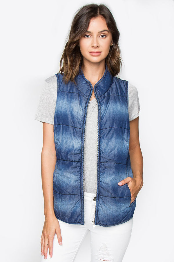 Stacy Chambray Vest