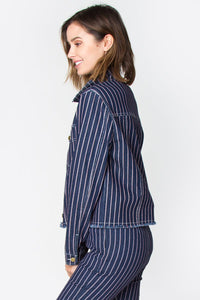 Vella Striped Denim Jacket