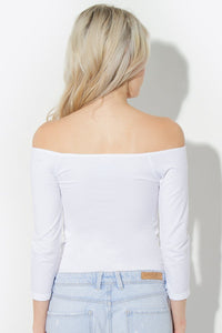 Seamless Off The Shoulder Top