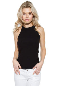 Cross Back Sleeveless Top