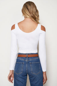 Cold Shoulder Long Sleeve Top- Final Sale