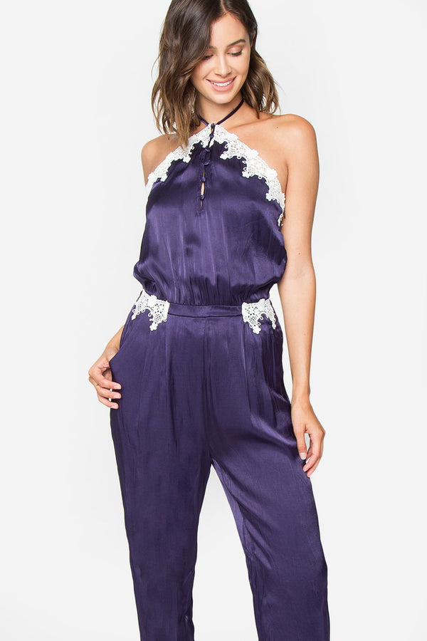 Keira Scalloped Lace Jumpsuit