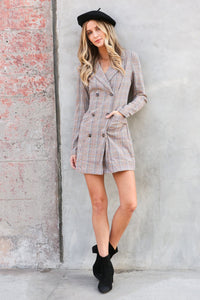 Owen Plaid Blazer Dress