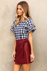 Symon Leather Wrap Skirt