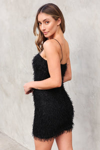 Miley Feather Mini Dress