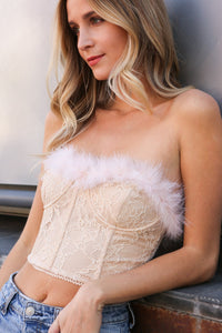 Milly Feather Trim Bustier
