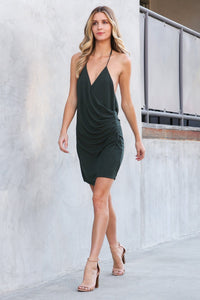 Georgia Surplice Mini Dress