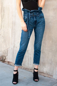Dillon High Waisted Paperbag Jeans