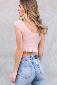 Charlie Fuzzy Crop Top
