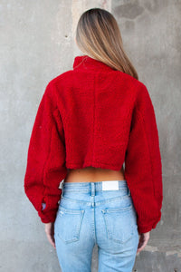 Nolan Cropped Teddy Jacket