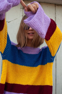 Cara Color Blocked Sweater