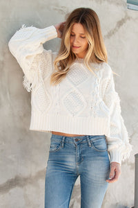 Line & Dot Jasper Fringe Sweater