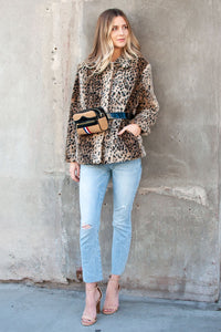 Angelica Leopard Print Fur Jacket
