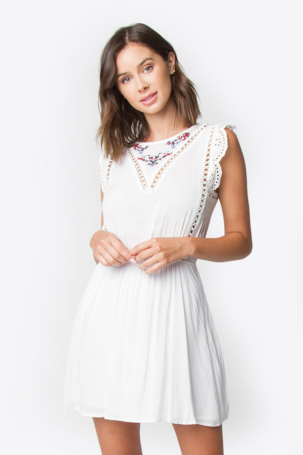 Astrid Embroidered Eyelet Dress