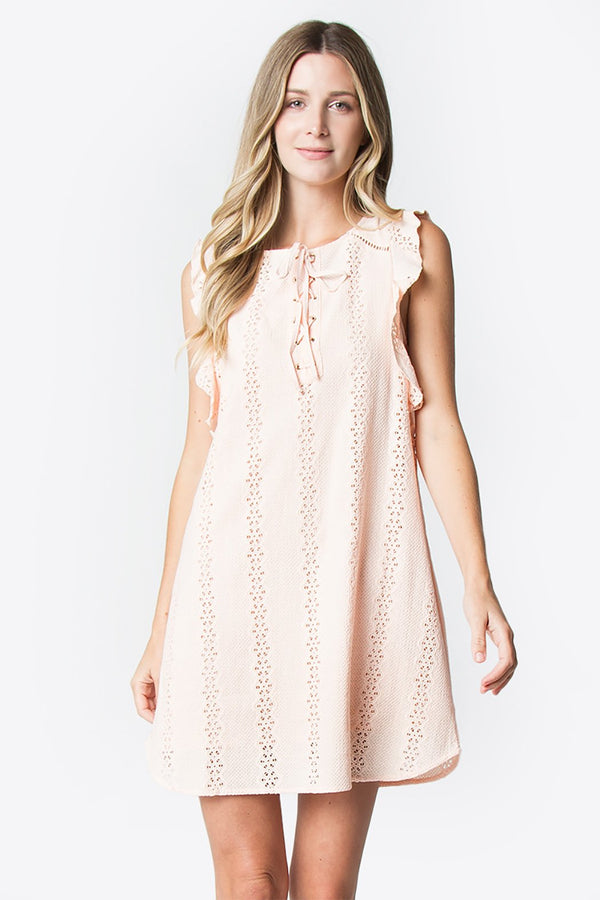 Coretta Blush Shift Dress