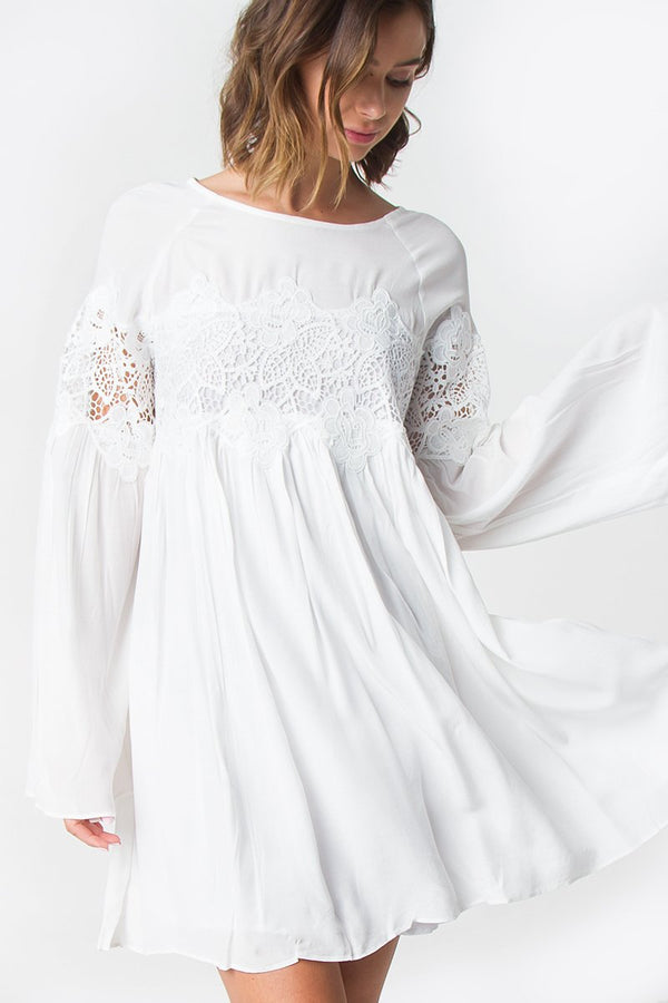 Demi Lace Bell Sleeve Dress